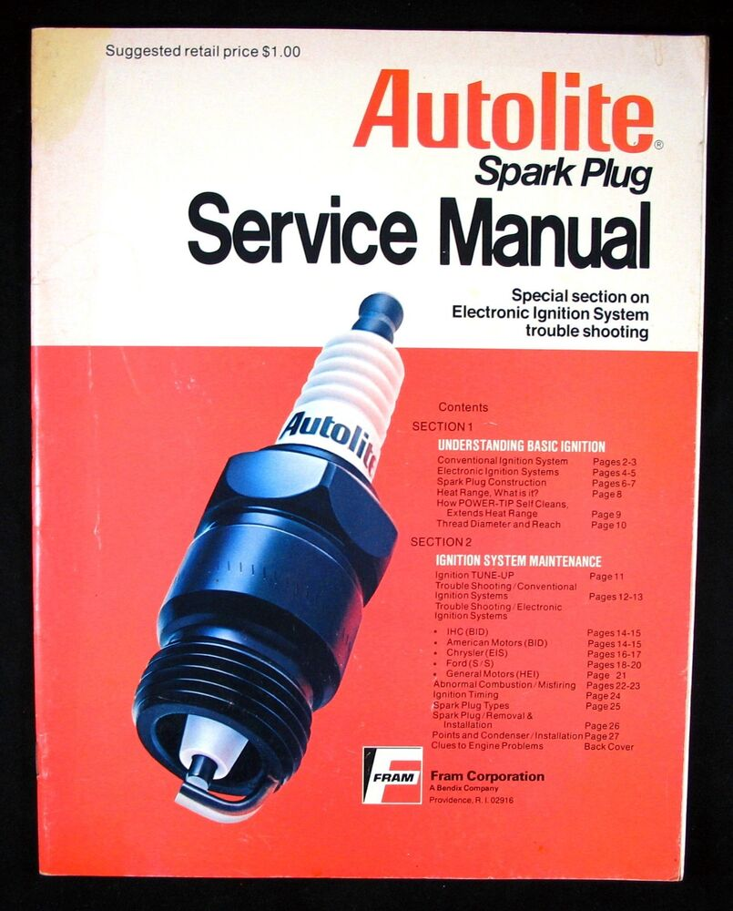 1976 Fram Autolite Spark Plug Service Manual   Ignition System Troubleshooting