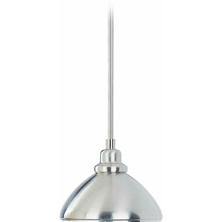 volume lighting 1 light brushed nickel mini pendant brushed nickel