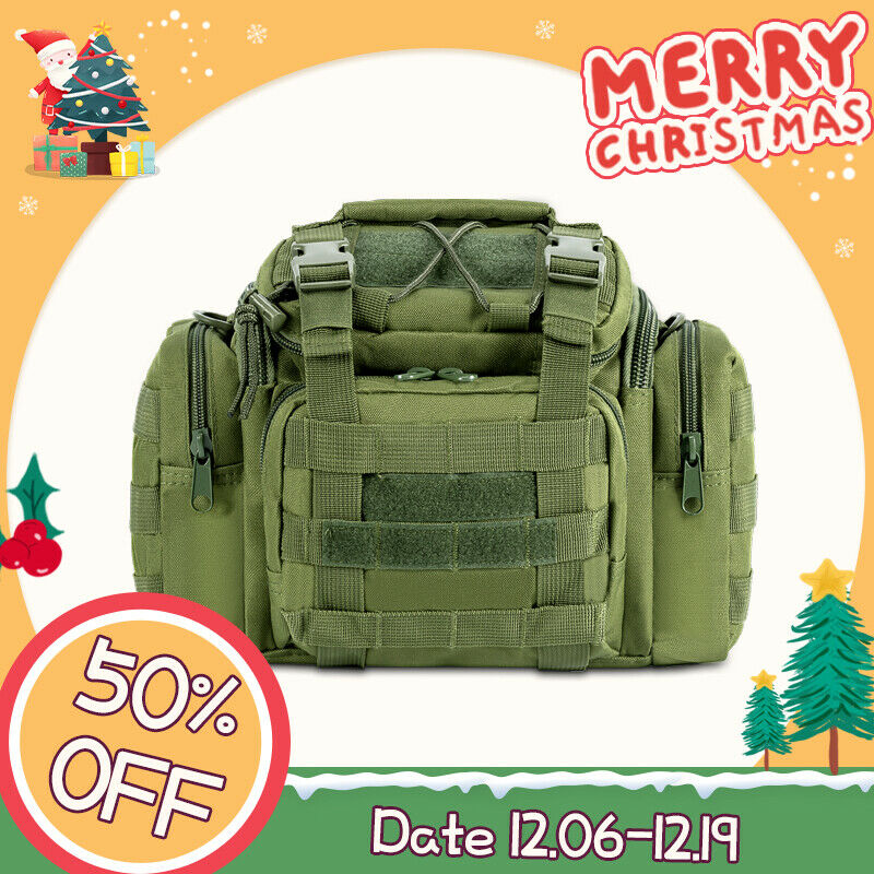 Fishing hunting tackle bag waist shoulder tactical pack for Ocean fishing gear