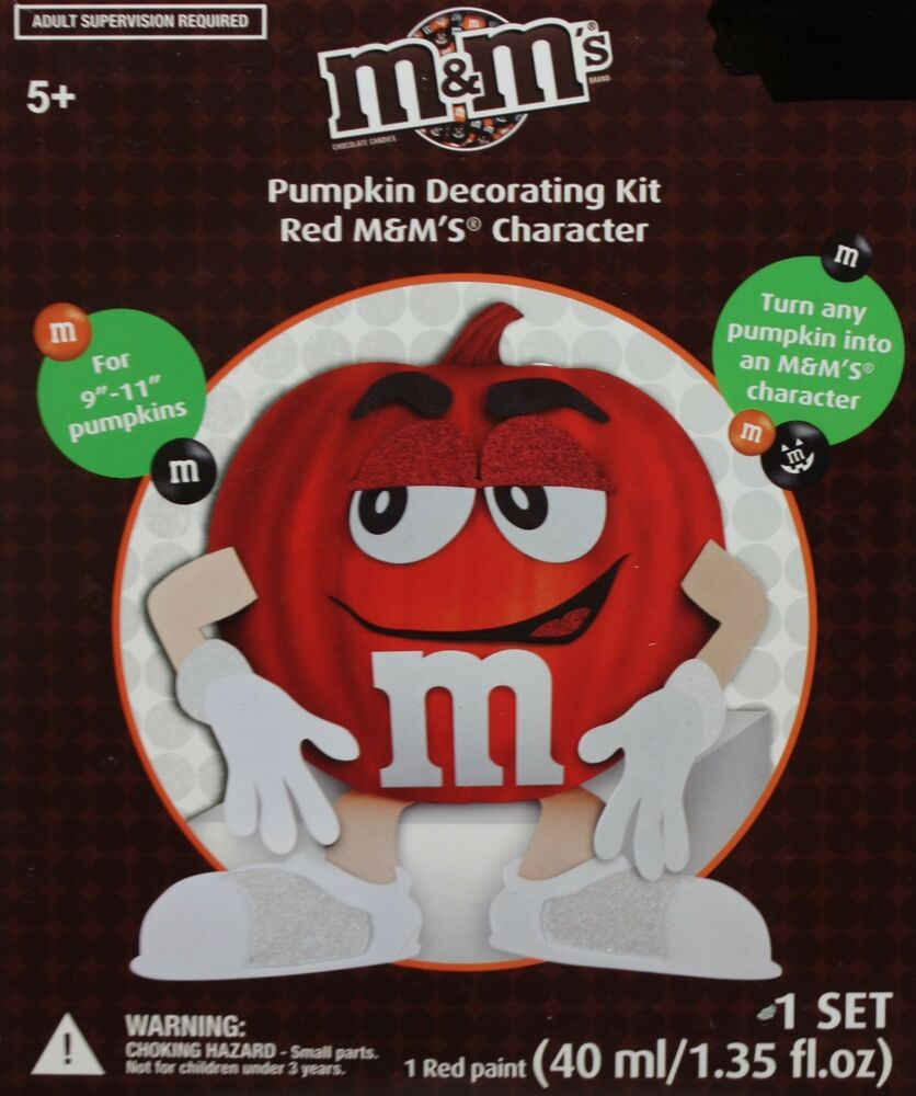Halloween m m 39 s m m pumpkin decorating kit red m m 39 s for M m halloween decorations