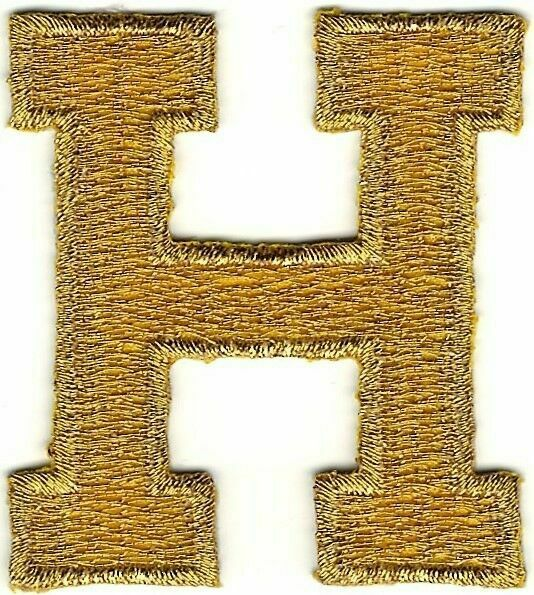 Block Letters- METALLIC GOLD Iron On Letters 2