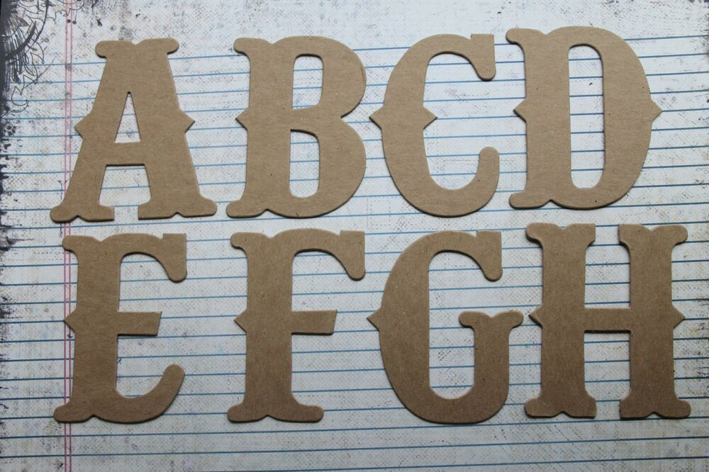 3 inch vintage style uppercase raw chipboard alphabet one for Where to buy chipboard letters