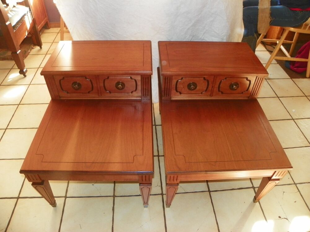 Pair of Cherry Mersman Step End Tables Side Tables (BM-T96