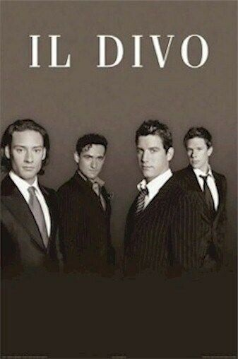 Il divo pinstripe suits group 24x36 music poster opera david miller izambard ebay - Il divo songs ...