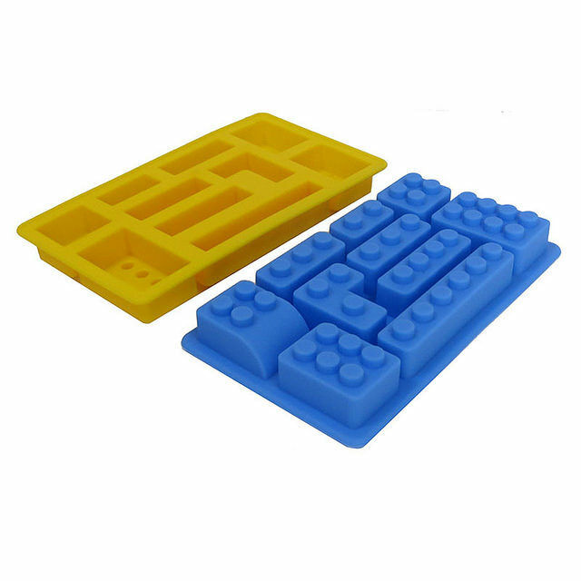 Lego brick style rectangle sharped silicone ice mold for Ice block construction