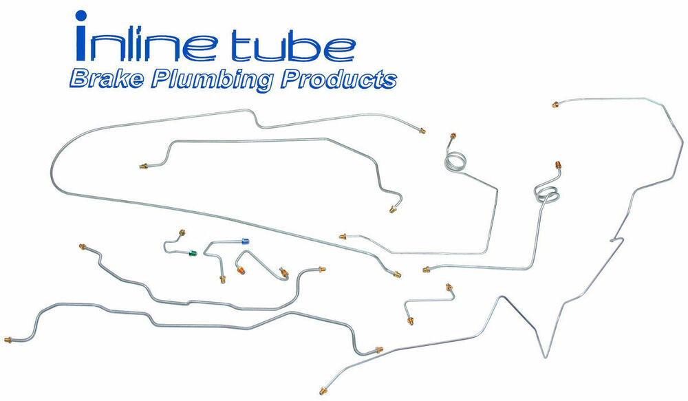 Brake Lines For Chevy Trucks : Chevy gmc truck brake line set power disc long