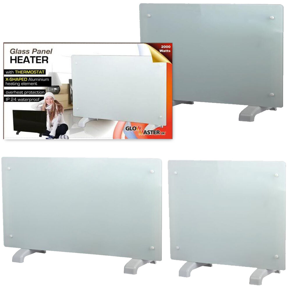 Free Standing Wall Mounted White Glass Electric Panel
