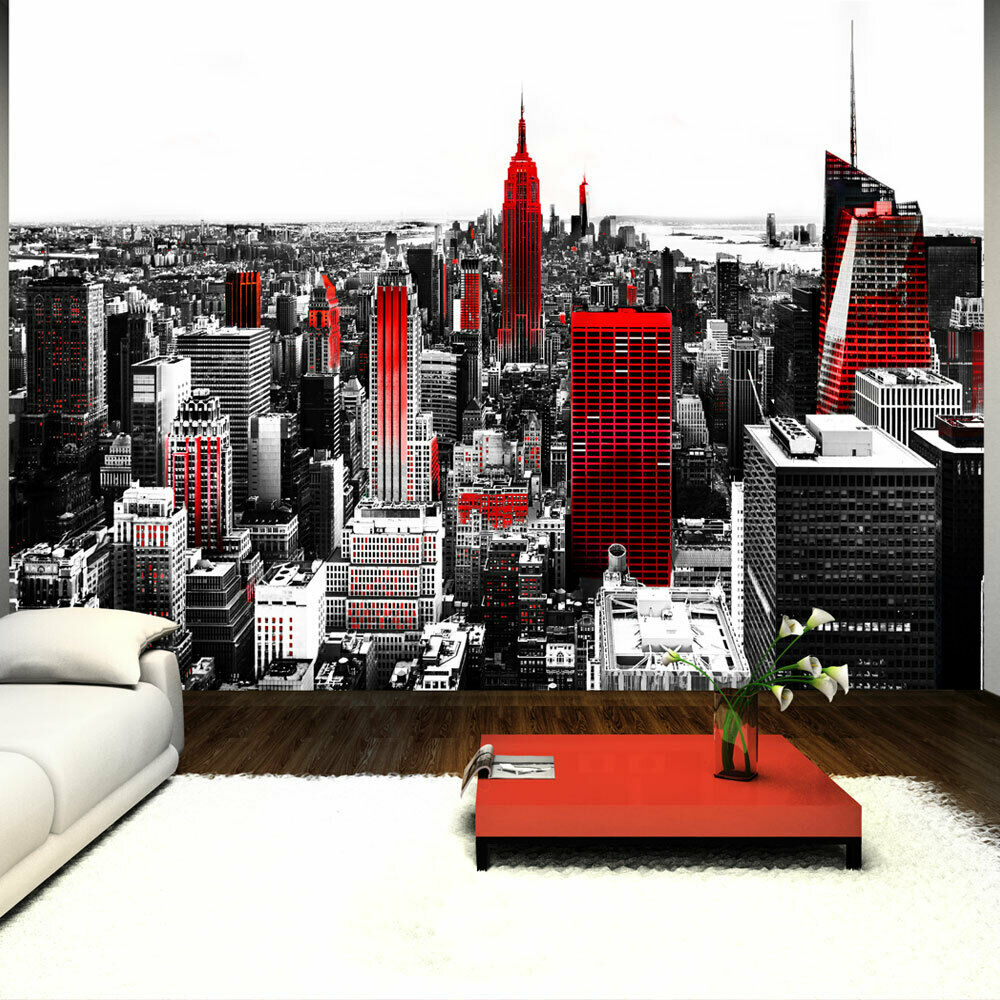 fototapete new york vlies tapete rot wandbilder xxl wandtapete grau 10110904 61 ebay. Black Bedroom Furniture Sets. Home Design Ideas