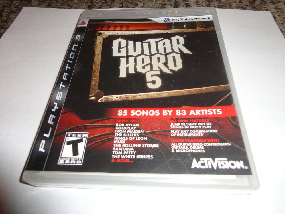 guitar hero 5 sony playstation 3 2009 new ps3. Black Bedroom Furniture Sets. Home Design Ideas