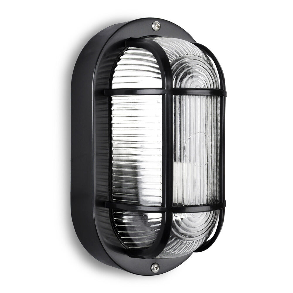 Outdoor Wall Lights Types: IP44 Black Outdoor Garden Exterior Security Bulkhead Wall
