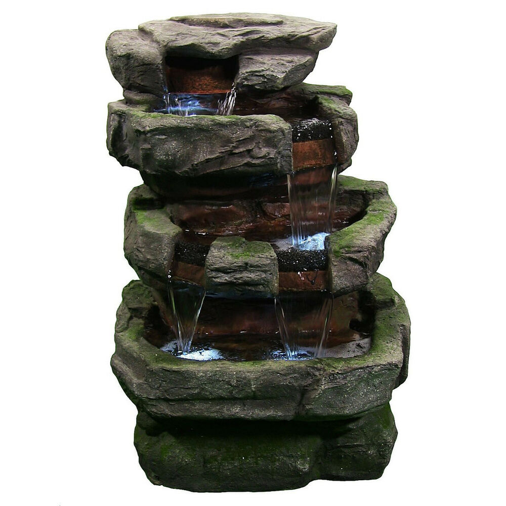Large rock quarry outdoor electric garden water fountain for Waterfall fountain