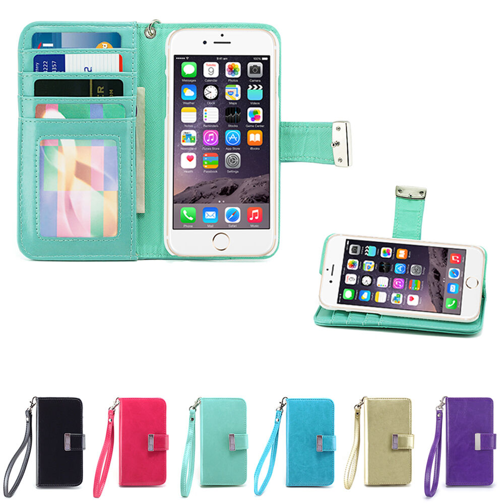 phone cases iphone 6 izengate id wallet flip pu leather cover folio for 2315