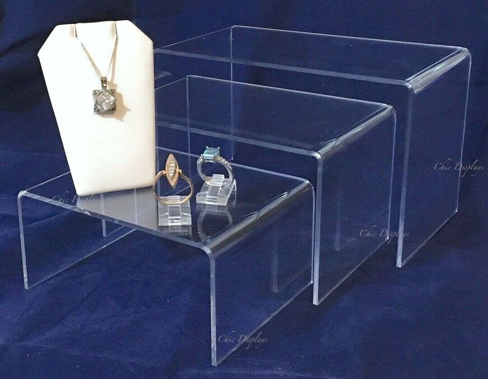 Counter top display jewelry displays acrylic 7 6 5 for Acrylic bar top