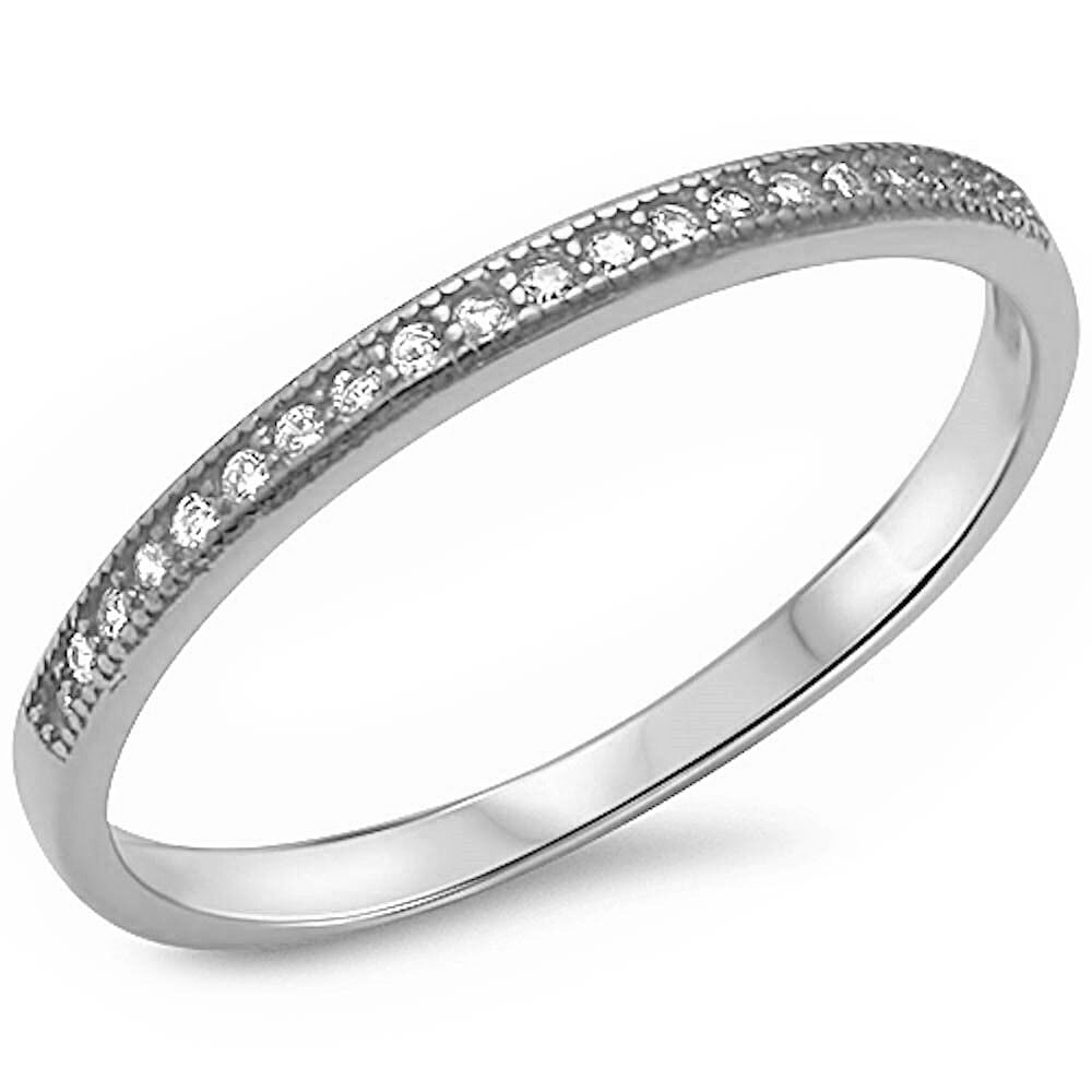 size 4 wedding rings pave cubic zirconia fashion engagement band 925 sterling 7534