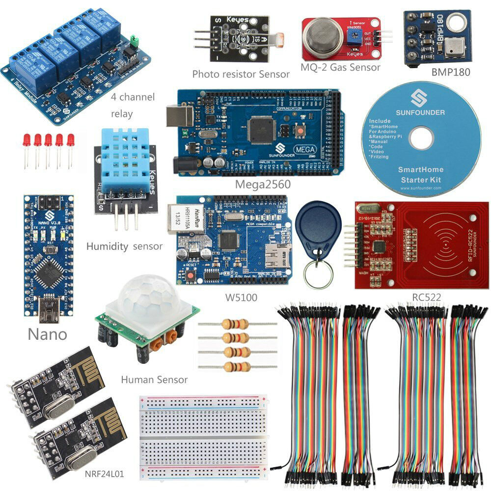 sunfounder diy smarthome system internet of things kit for arduino raspberry pi2 ebay. Black Bedroom Furniture Sets. Home Design Ideas