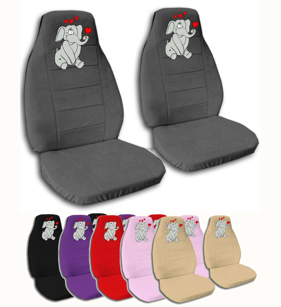 2 Front Baby Elephant Velvet Seat Covers With 8 Color
