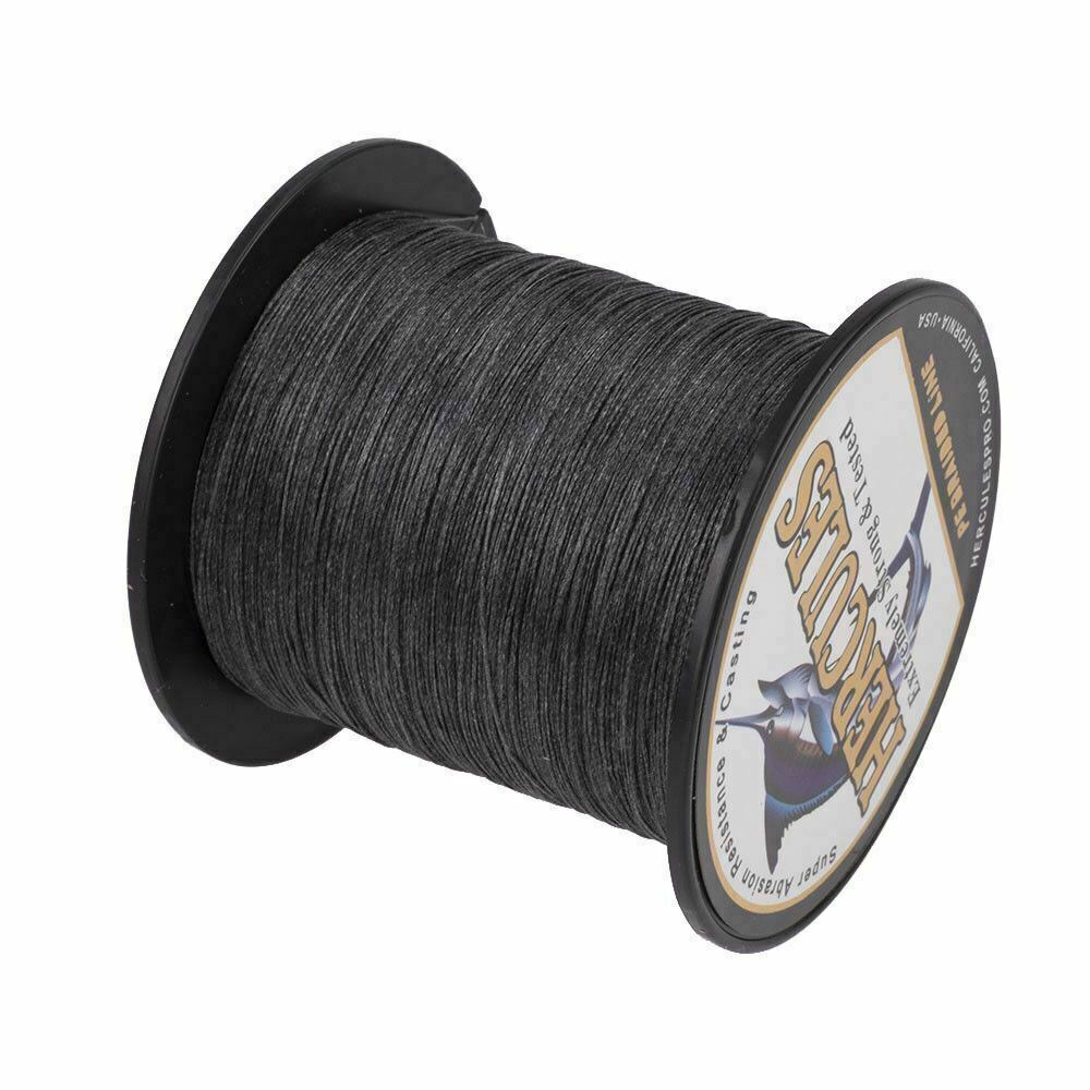 8 strands 100m black 10lb 300lb big game spectra pe for Black braided fishing line