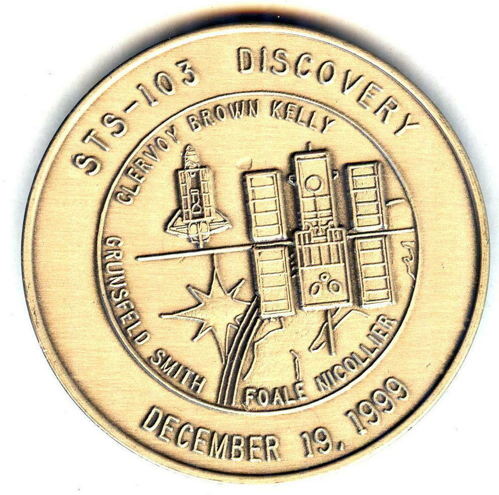 Details about  N103      NASA  SPACE  SHUTTLE   COIN /  MEDAL,      DISCOVERY,  STS-103