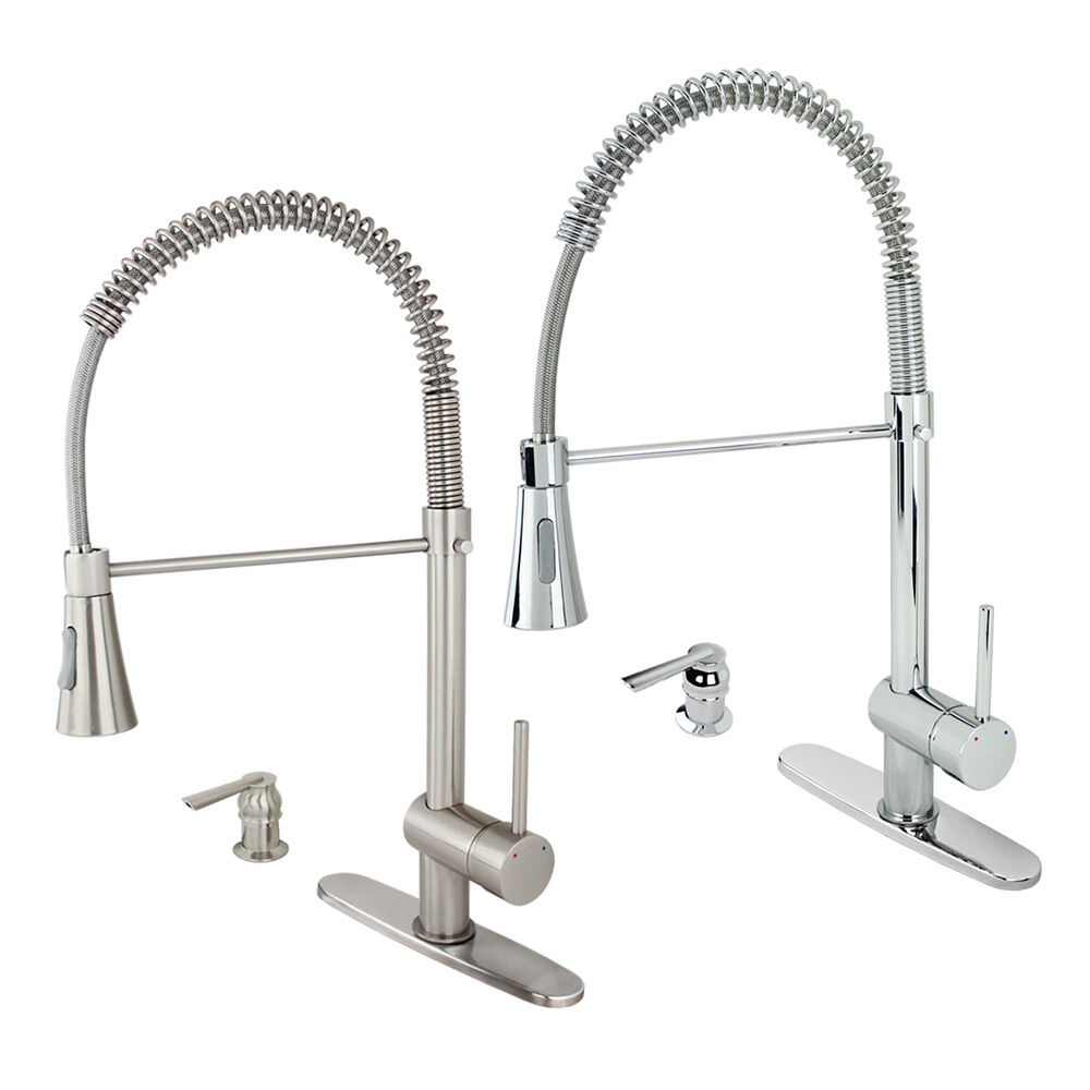 Modern Kitchen Faucet Bar Sink Pull-Out Swivel Spout