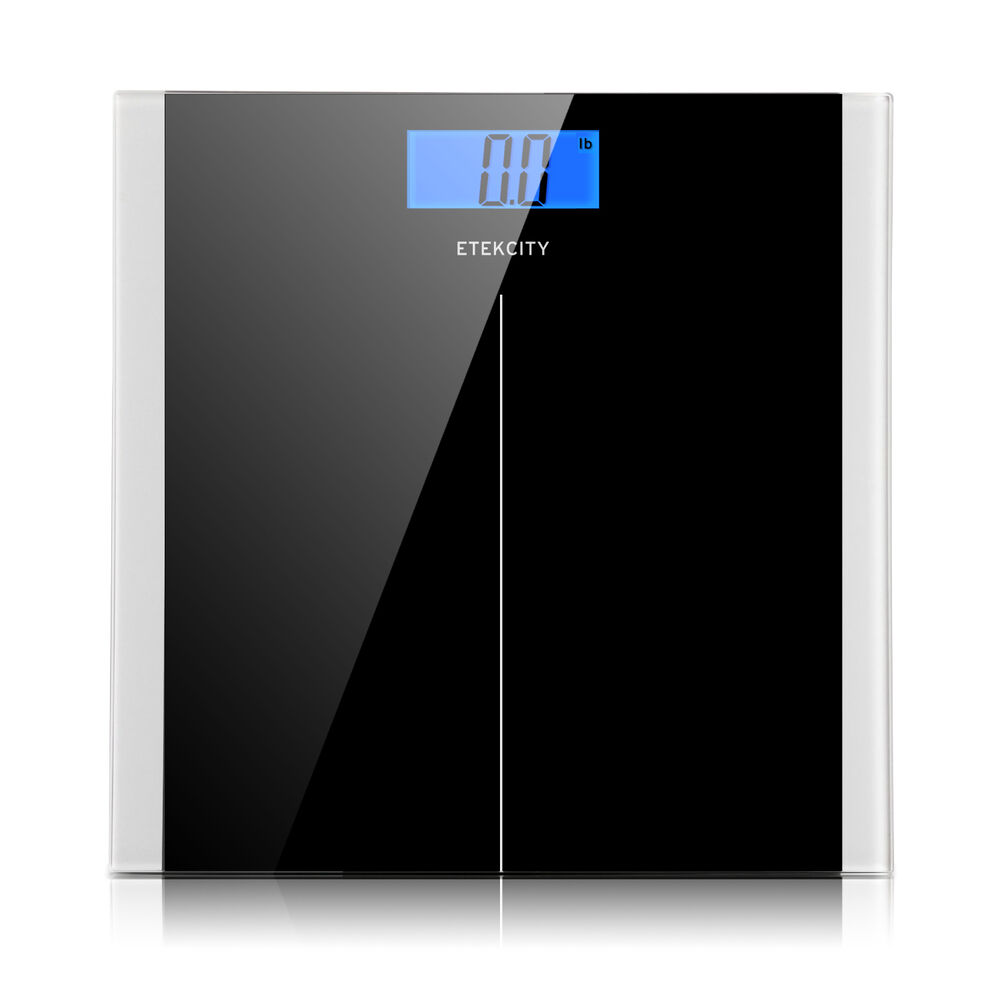 Digital LCD Glass Bathroom Body Scale Weight Watchers Fitness Scales ...