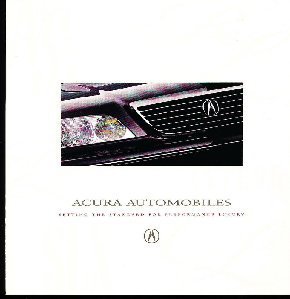 Acura Sales: 1997 Acura Original Car Sales Brochure Catalog