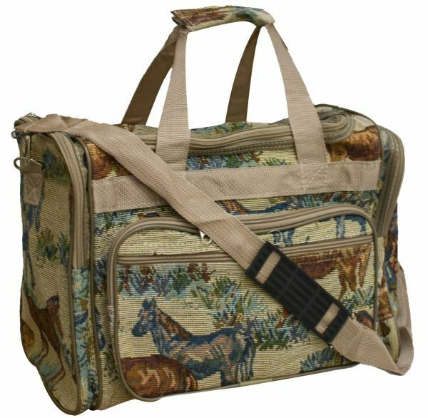 Collapsible Wheeled Rolling Tapestry Travel Bag
