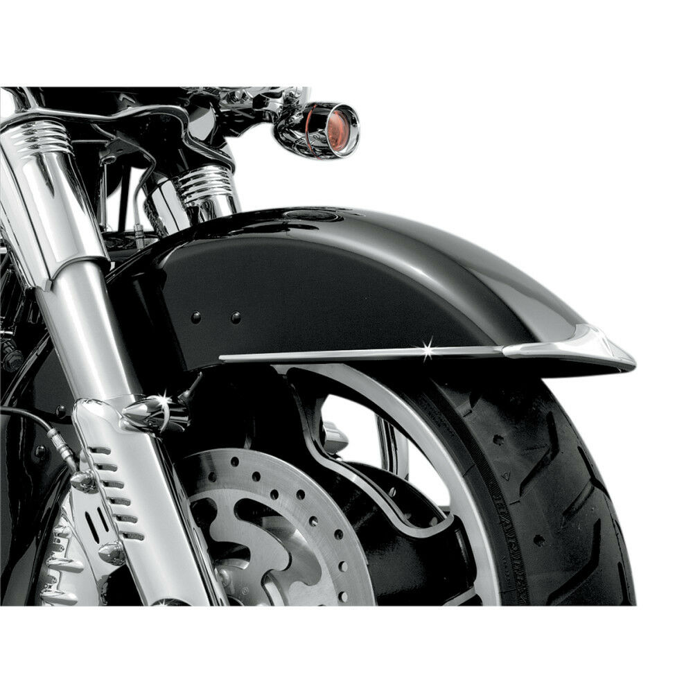 Harley Touring Fenders : Kuryakyn chrome front fender side trim for harley