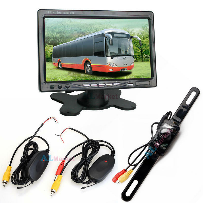 7 Quot Tft Lcd Rear View Monitor Wireless Car Reverse Backup