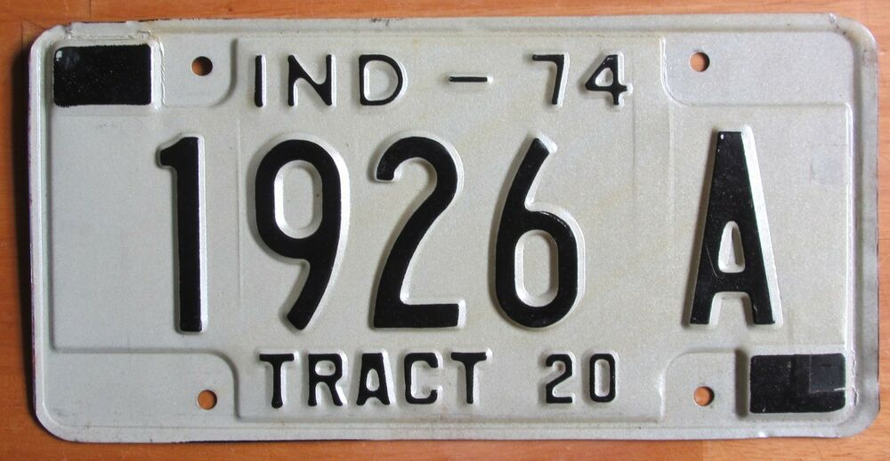 Tractor License Plates : Indiana tractor license plate a ebay