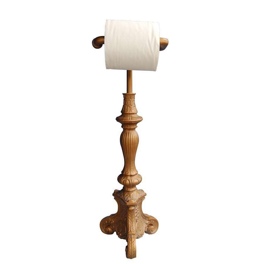 Hickory Manor Standing Classic Toilet Paper Holder Antique