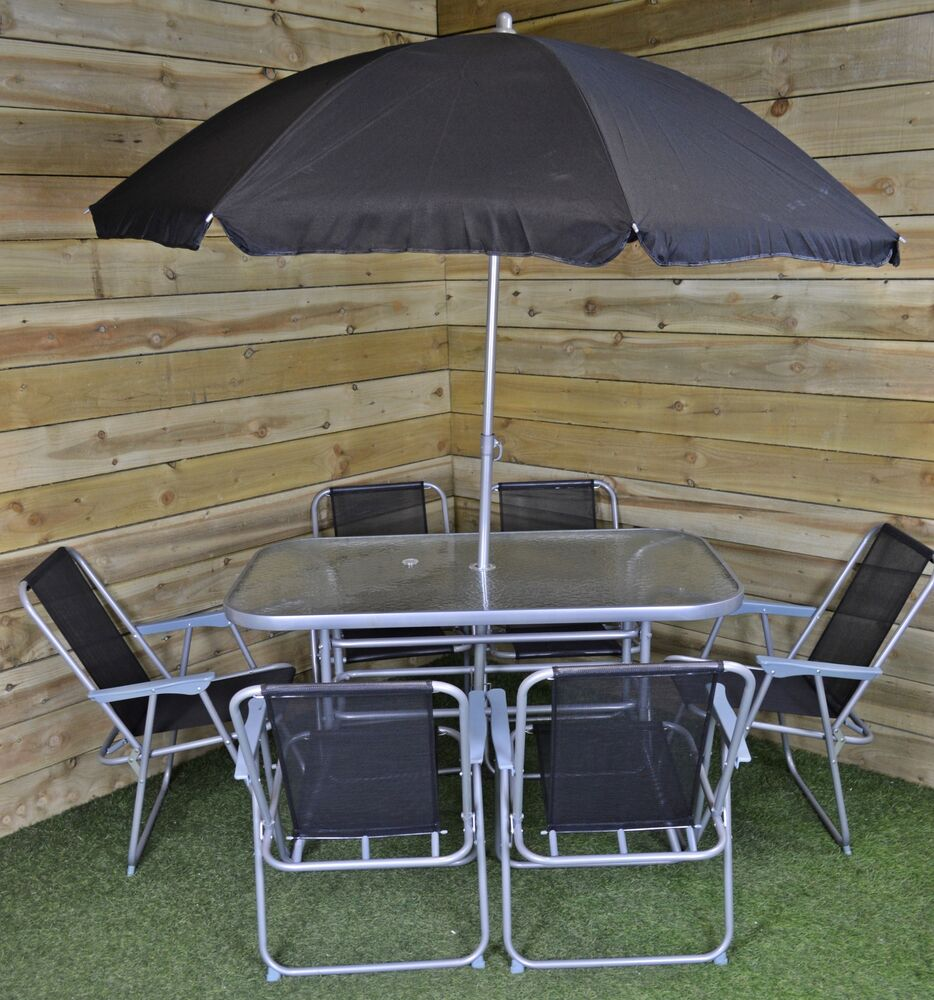 6 Person Garden Furniture Patio Set Table 6 Chairs