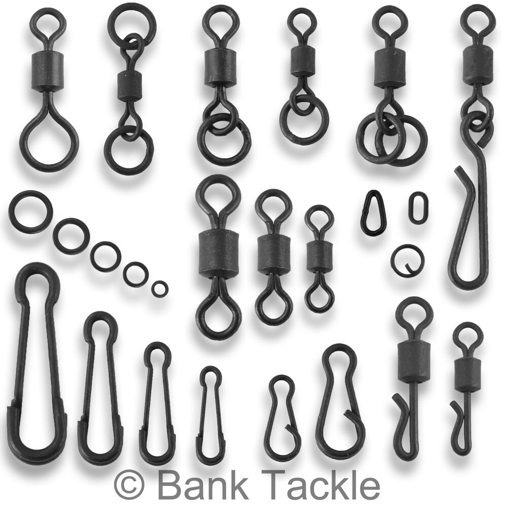 Carp fishing tackle swivels quick change flexi chod clips for Fishing swivel sizes