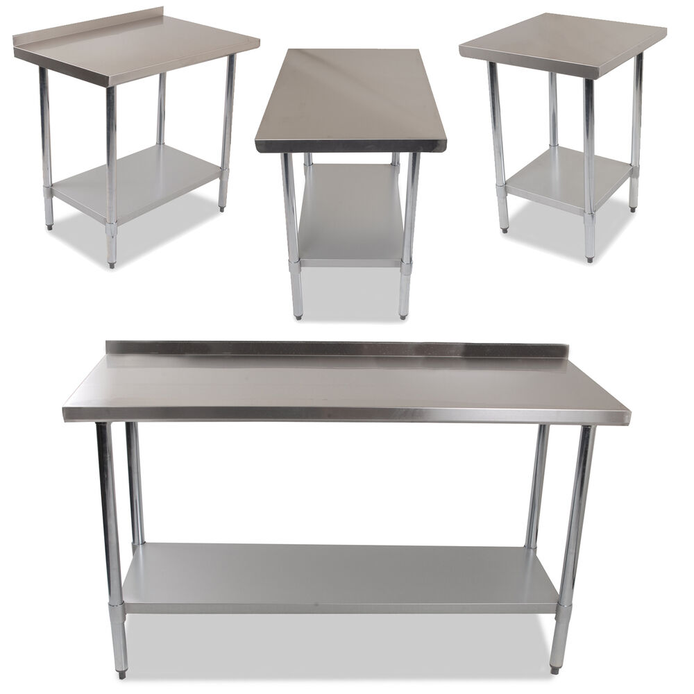 Stainless Steel Kitchen Work Table: INDUSTRIAL COMMERCIAL STAINLESS STEEL KITCHEN FOOD PREP