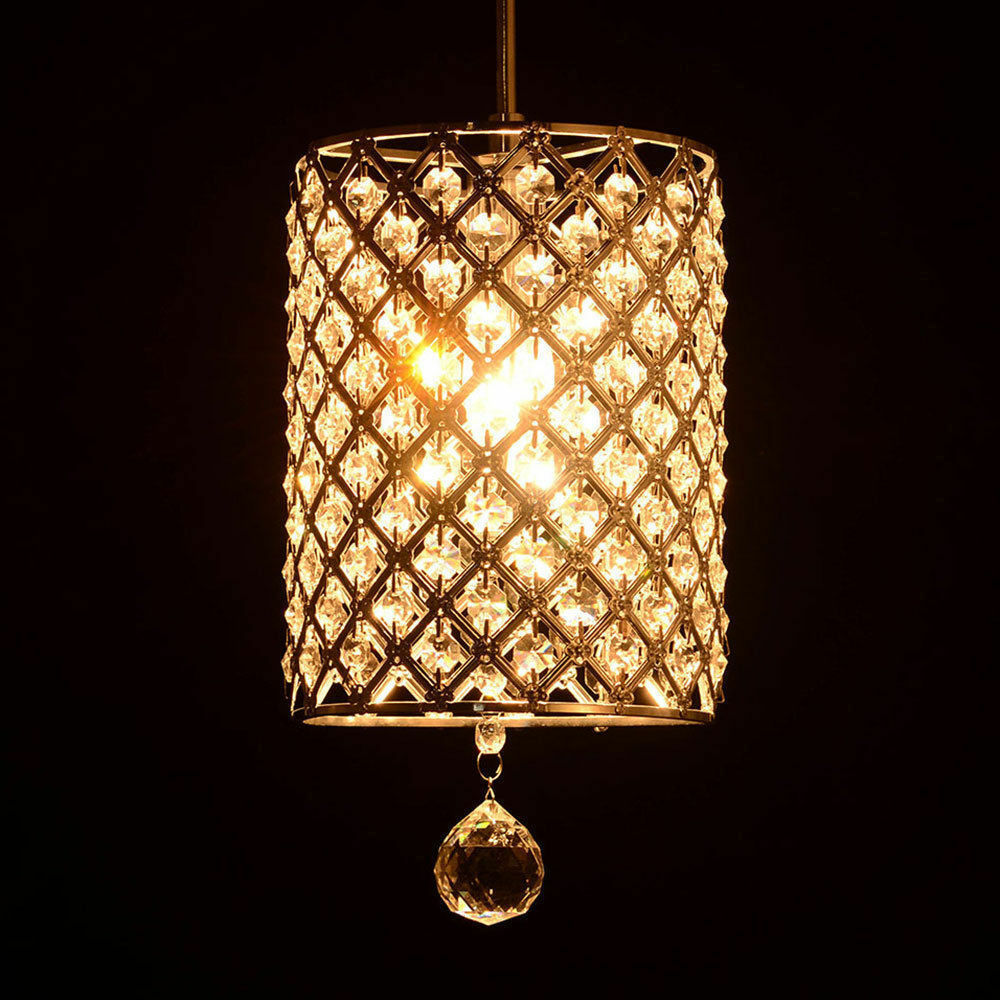 Promotion modern crystal ceiling light pendant lamp for A lamp and fixture