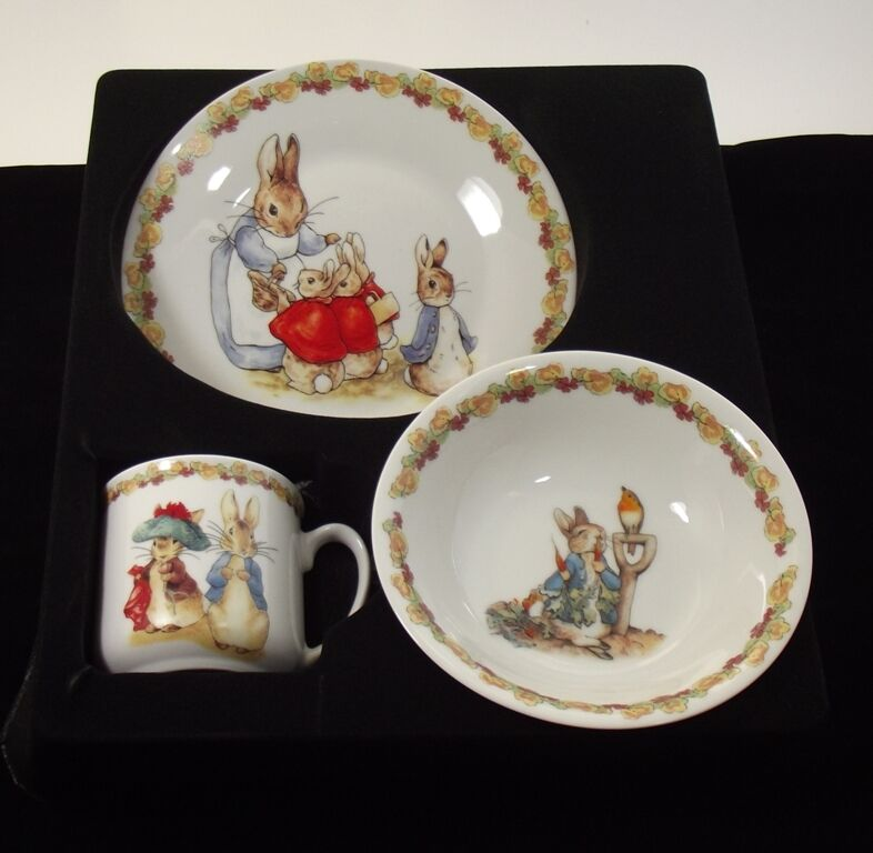 Peter Rabbit Baby Gift Sets : Beatrix potter peter rabbit collectors plate bowl mug