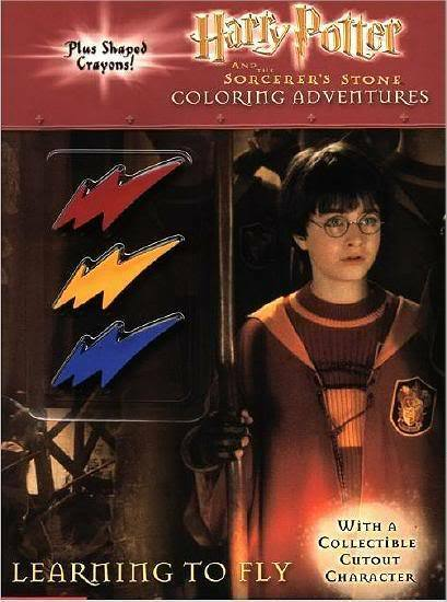 HARRY POTTER COLORING BOOK W LIGHTNING BOLT CRAYONS