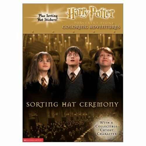 Rare HARRY POTTER SORTING HAT COLORING BOOK W STICKERS