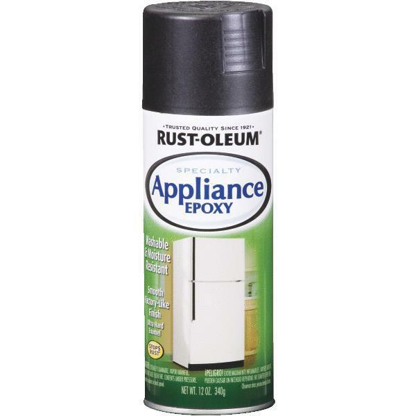 Appliance and metal epoxy black spray paint by rustoleum 7886 830 ebay Black metal spray paint