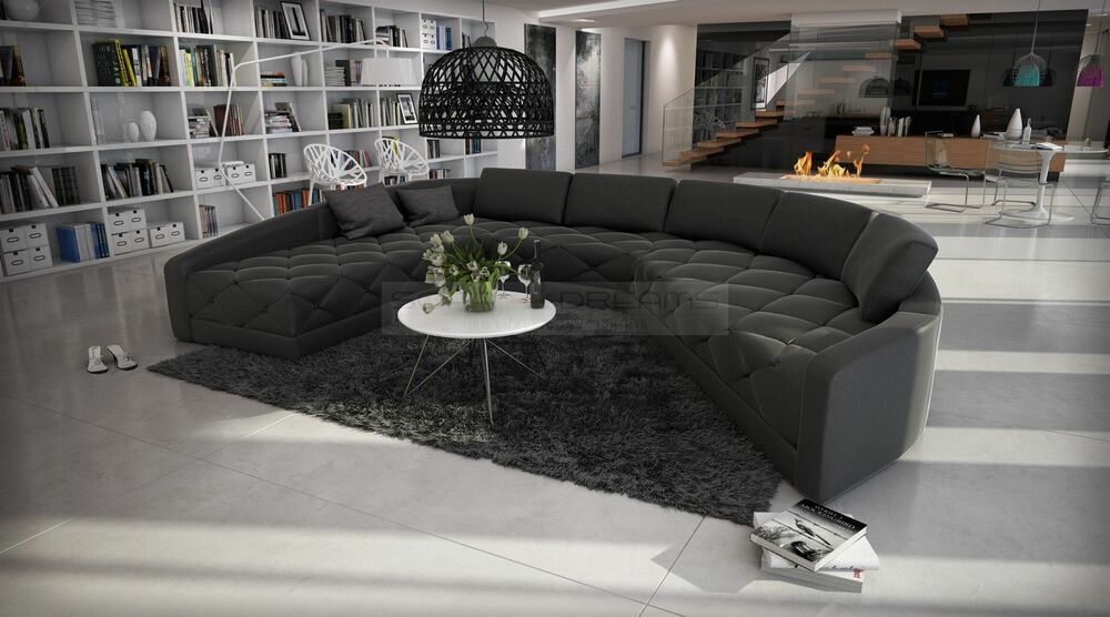 round sofa secreto quilted seat designersofa luxury sofa ebay. Black Bedroom Furniture Sets. Home Design Ideas