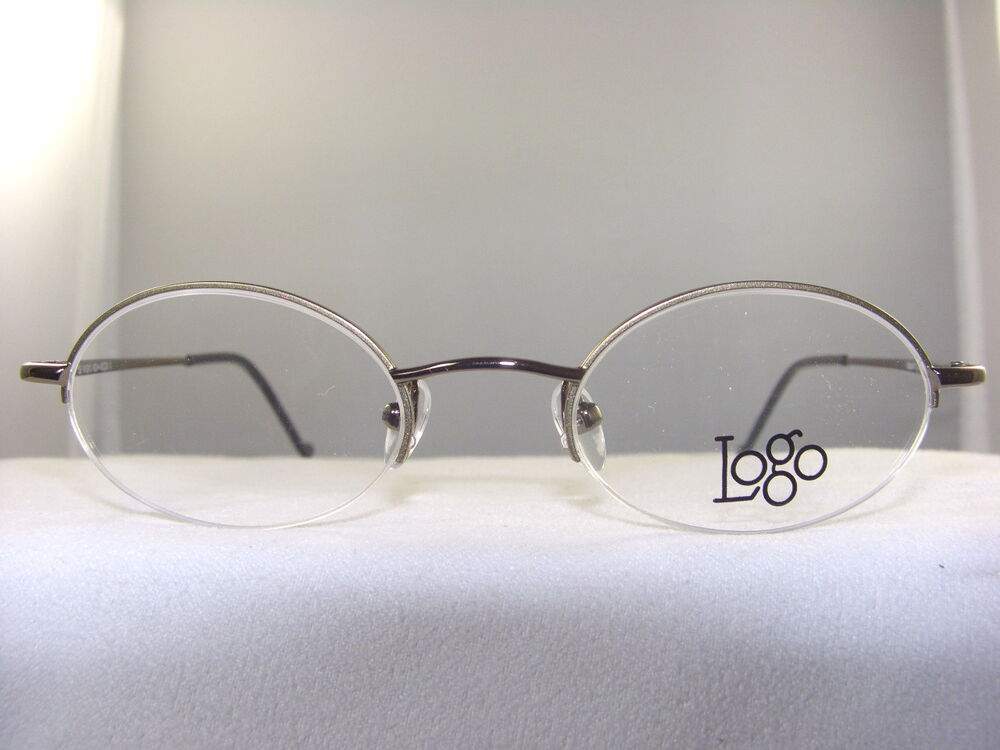 SMALL SEMI RIMLESS EYEGLASS FRAME IN BROWN SIZE 45-20 eBay