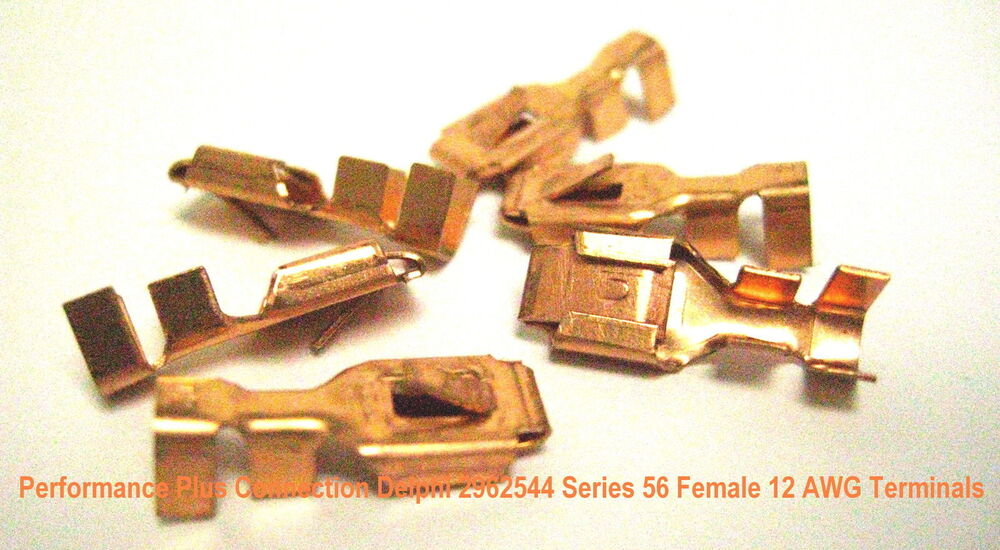 GM Delphi 2965142 Series 56 Unsealed Female Terminals 16-14 AWG 6 Pk Made In USA