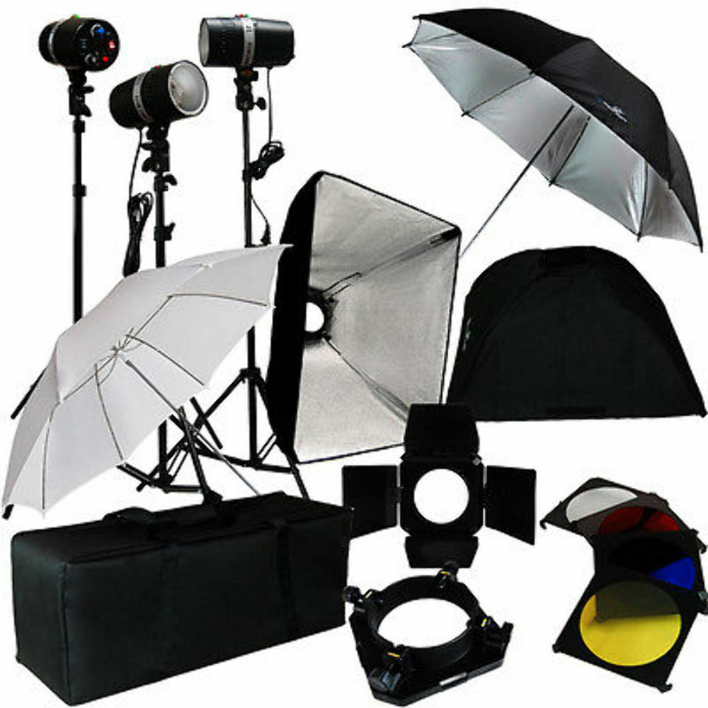 Optex Photo Studio Lighting Kit Review: 3 Studio Photo Flash Strobe Light Stand Kit W/ Softbox