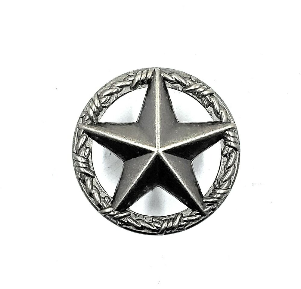 Texas star barbwire cabinet drawer knob pull western decor for Star cabinet pulls