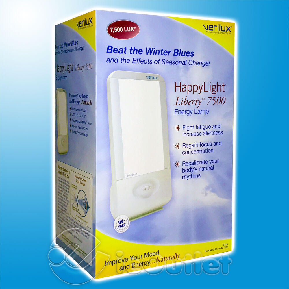New Verilux Liberty Happy Light Therapy 7500k 7 5k Natural