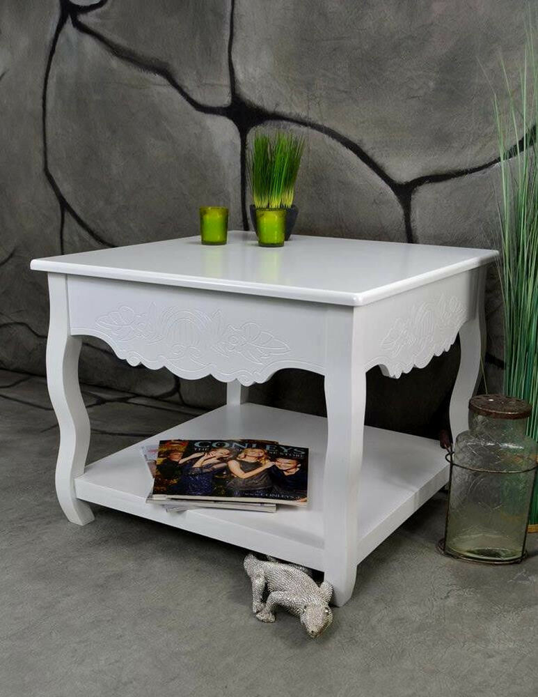 beistelltisch landhaus shabby vintage antik 60 x 60 lv4054 ebay. Black Bedroom Furniture Sets. Home Design Ideas