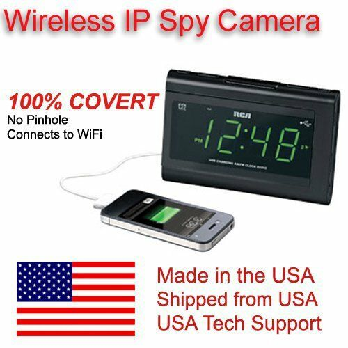 wifi alarm radio clock spy nanny camera ebay. Black Bedroom Furniture Sets. Home Design Ideas