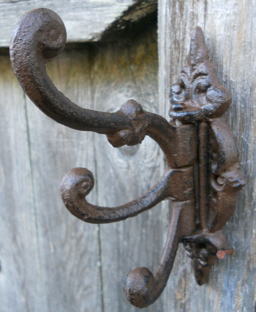 swivel hook wall hooks victorian style 3 arm swivel coat hook ebay