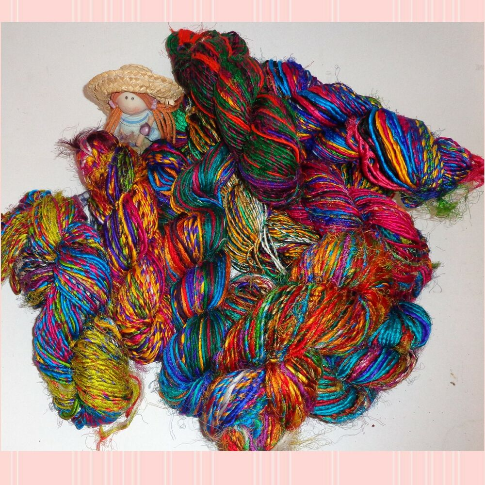 Lustrous Sari Silk Yarn Hand Spun And Very Soft Best