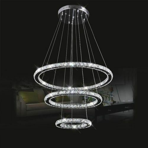 Led Chandelier Ceiling Lights : Modern led luxury crystal chandelier ceiling drop hanging
