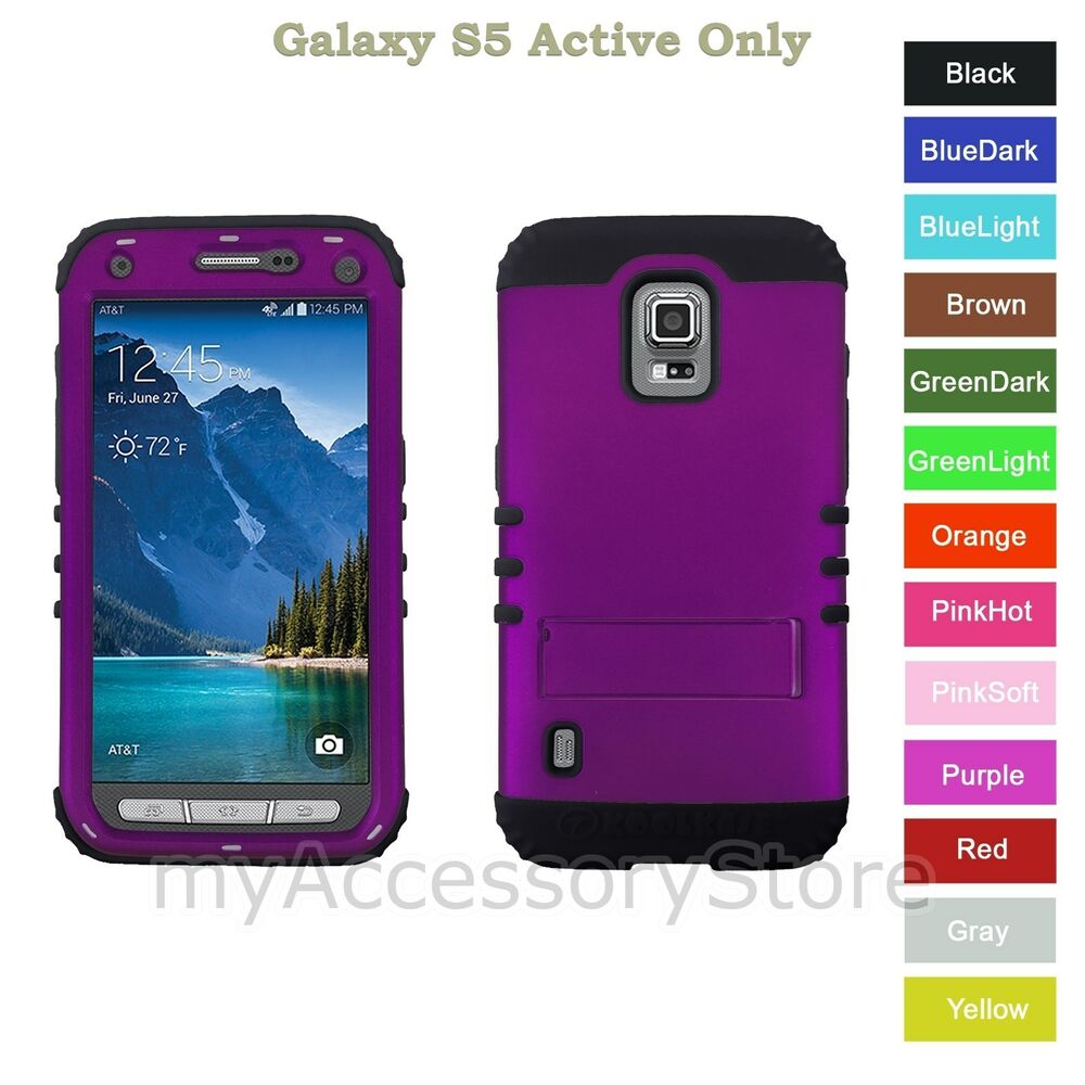 Samsung Galaxy S5 ACTIVE Purple RKR Hard&Rubber ShockProof ...